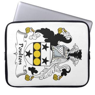 Escudo de la familia de Poulton Manga Portátil