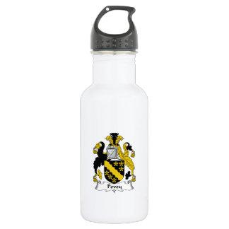 Escudo de la familia de Povey Botella De Agua De Acero Inoxidable