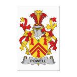 Escudo de la familia de Powell Impresiones En Lona Estiradas