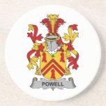 Escudo de la familia de Powell Posavasos Cerveza
