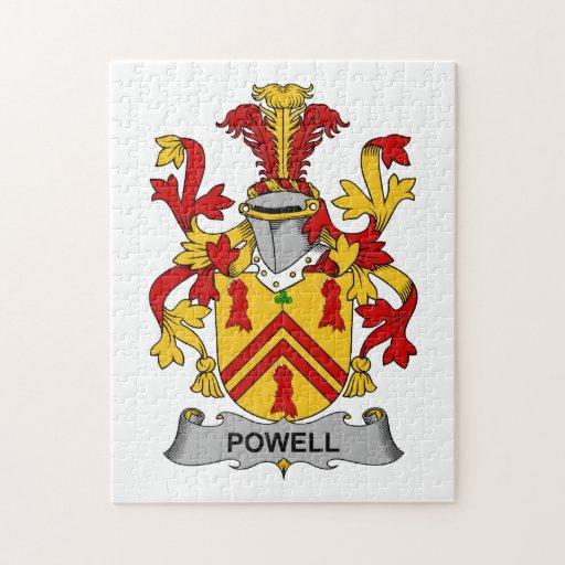Escudo de la familia de Powell Rompecabezas