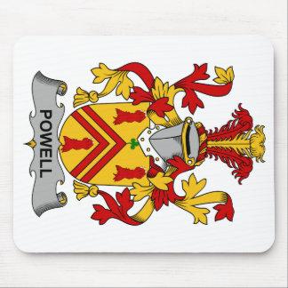 Escudo de la familia de Powell Tapete De Raton