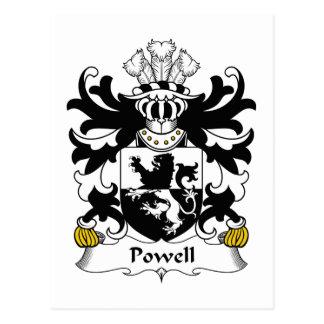 Escudo de la familia de Powell Tarjeta Postal