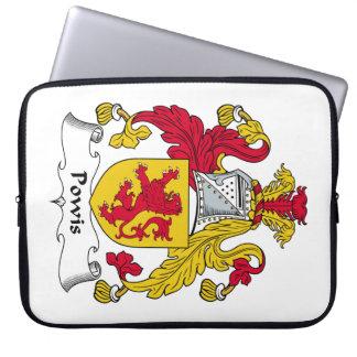 Escudo de la familia de Powis Fundas Portátiles