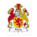 Escudo de la familia de Powis Tarjetas Postales
