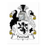Escudo de la familia de Pownall Postales