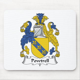Escudo de la familia de Powtrell Alfombrillas De Raton