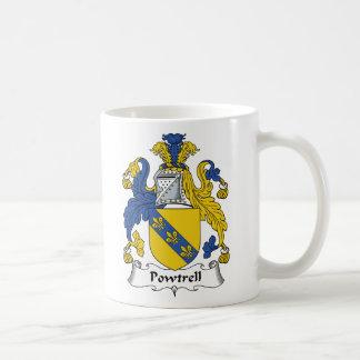 Escudo de la familia de Powtrell Taza De Café