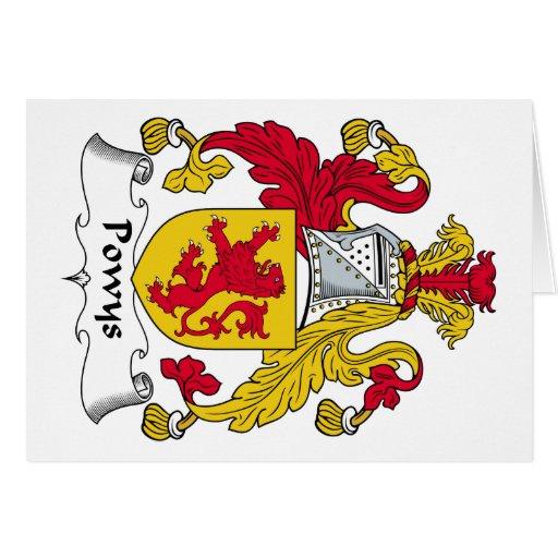 Escudo de la familia de Powys Felicitación
