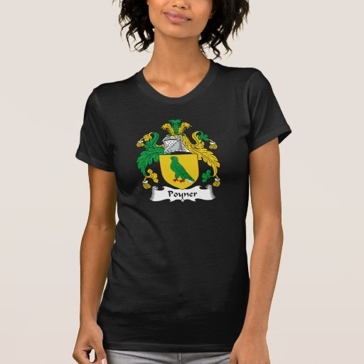 Escudo de la familia de Poyner Camisetas