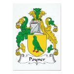 Escudo de la familia de Poyner Invitación 12,7 X 17,8 Cm