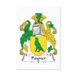 Escudo de la familia de Poyner Lona Envuelta Para Galerias