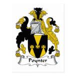 Escudo de la familia de Poynter Tarjetas Postales