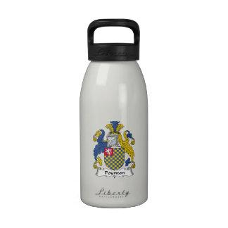 Escudo de la familia de Poynton Botella De Beber