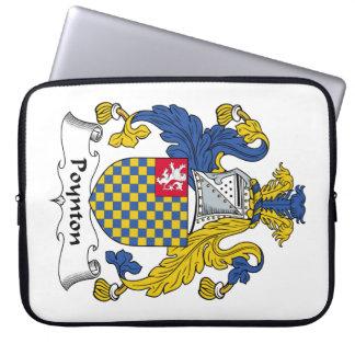 Escudo de la familia de Poynton Fundas Computadoras