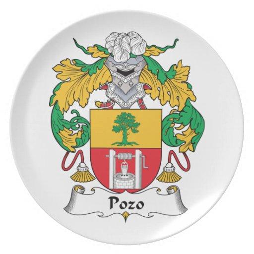 Escudo de la familia de Pozo Platos Para Fiestas