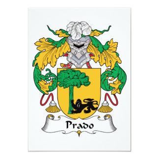 Escudo de la familia de Prado Invitación Personalizada