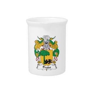 Escudo de la familia de Prado Jarra Para Bebida