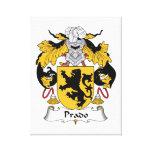 Escudo de la familia de Prado Lienzo Envuelto Para Galerías