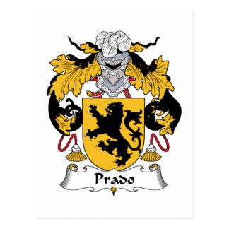 Escudo de la familia de Prado Tarjeta Postal