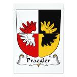 Escudo de la familia de Praegler Invitación 12,7 X 17,8 Cm