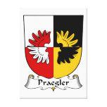 Escudo de la familia de Praegler Impresión En Lienzo Estirada