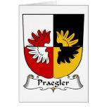 Escudo de la familia de Praegler Tarjetas