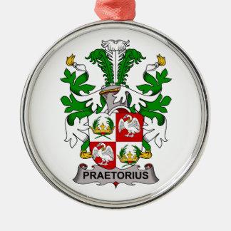 Escudo de la familia de Praetorius Adorno Navideño Redondo De Metal