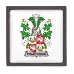 Escudo de la familia de Praetorius Cajas De Recuerdo De Calidad