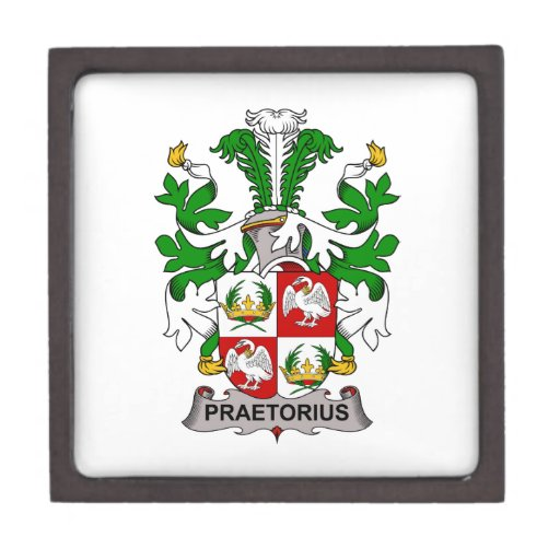 Escudo de la familia de Praetorius Caja De Recuerdo De Calidad