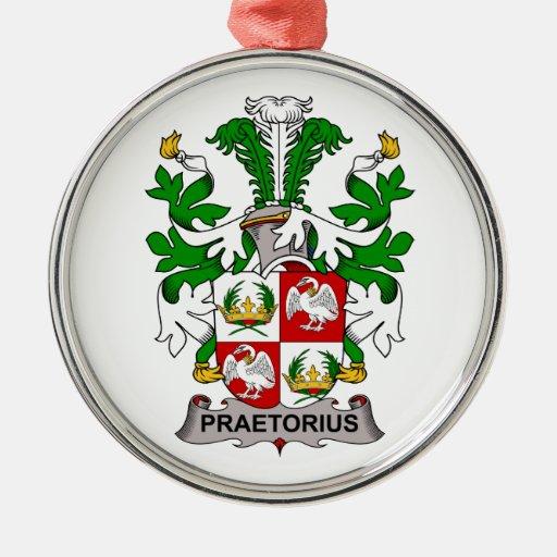 Escudo de la familia de Praetorius Ornamente De Reyes