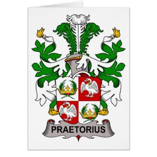 Escudo de la familia de Praetorius Tarjeta De Felicitación