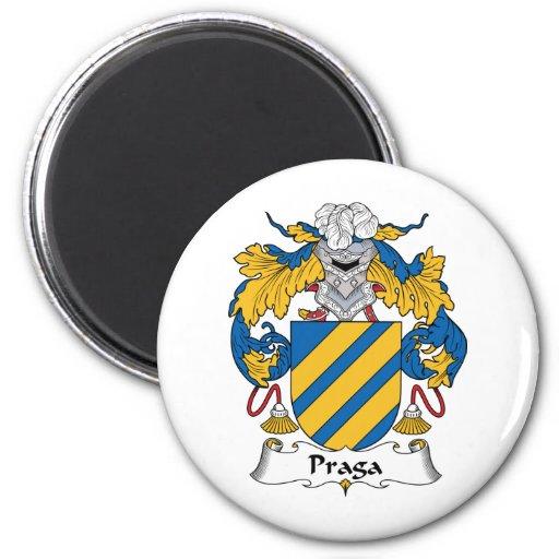 Escudo de la familia de Praga Imán Redondo 5 Cm