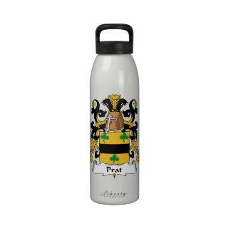 Escudo de la familia de Prat Botellas De Agua Reutilizables