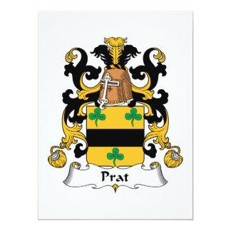 """Escudo de la familia de Prat Invitación 6.5"""" X 8.75"""""""