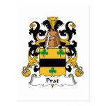 Escudo de la familia de Prat Tarjeta Postal