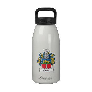Escudo de la familia de Prata Botellas De Beber