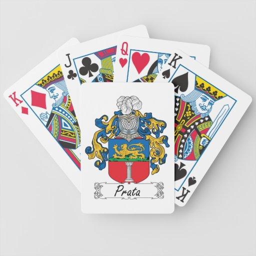 Escudo de la familia de Prata Baraja Cartas De Poker