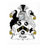 Escudo de la familia de Pratt Postal
