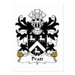 Escudo de la familia de Pratt Tarjetas Postales