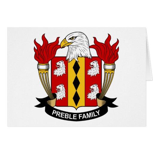 Escudo de la familia de Preble Felicitaciones