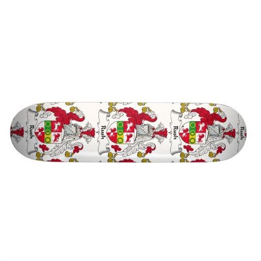 Escudo de la familia de precipitación patineta personalizada