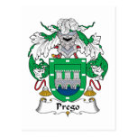 Escudo de la familia de Prego Postales
