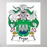 Escudo de la familia de Prego Posters