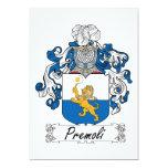Escudo de la familia de Premoli Invitación 12,7 X 17,8 Cm