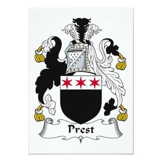 """Escudo de la familia de Prest Invitación 5"""" X 7"""""""