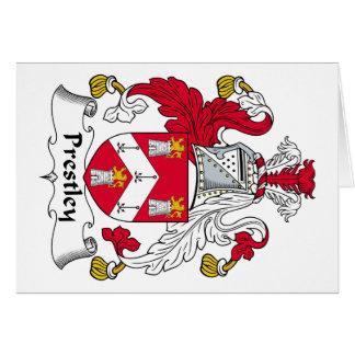 Escudo de la familia de Prestley Felicitacion