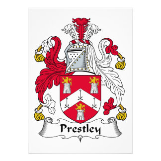 Escudo de la familia de Prestley Invitación
