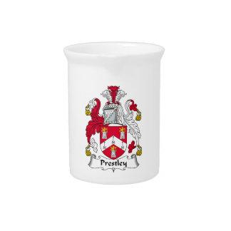 Escudo de la familia de Prestley Jarra Para Bebida