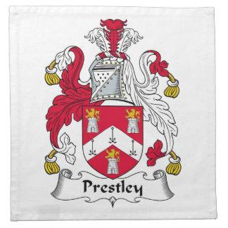 Escudo de la familia de Prestley Servilletas Imprimidas